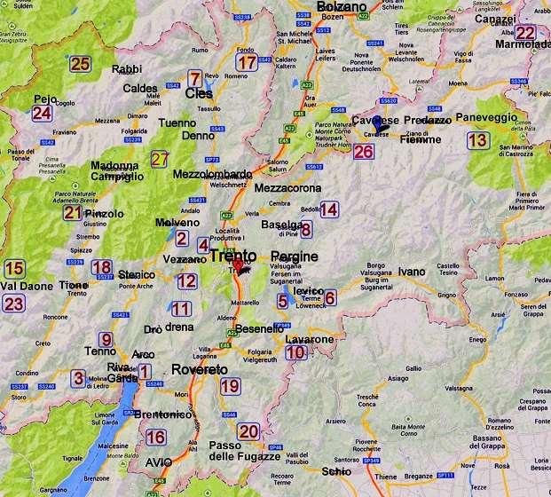 cartina dei laghi trentino 5